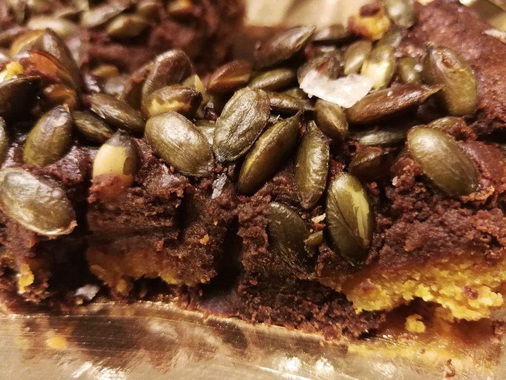 Galletas de chocolate y semillas de calabaza